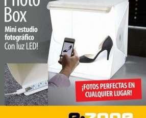Foto Box mini estudio fotográfico con luz led 24x24x22 cm