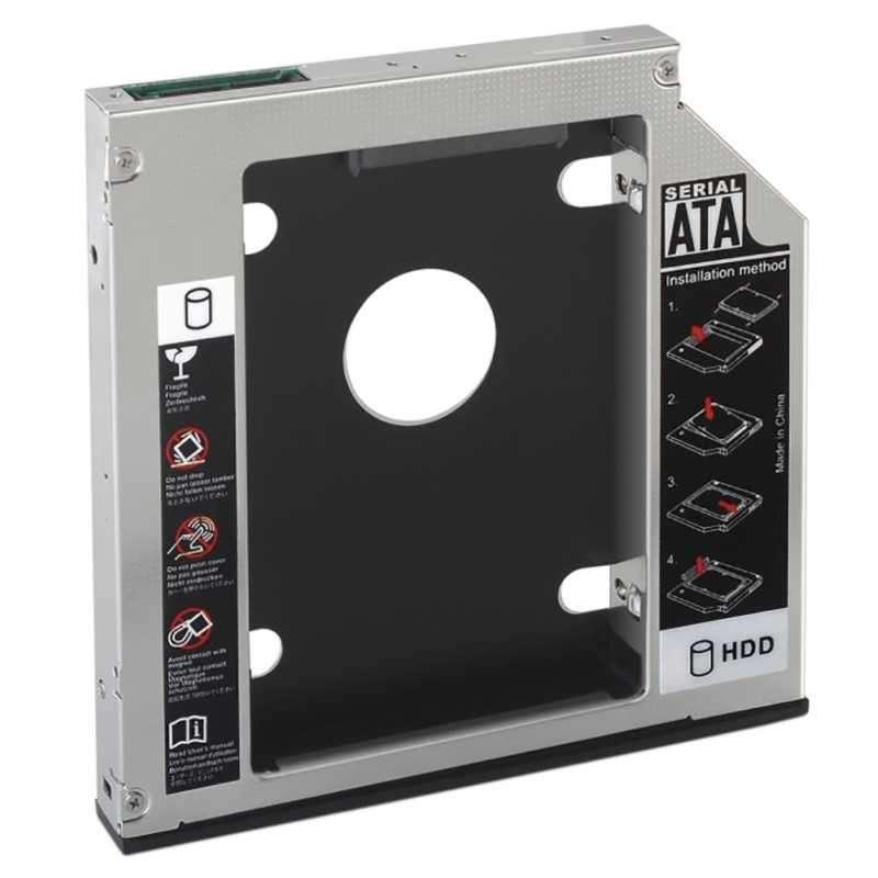 "Rack gaveta interna 12.7,mm conversor DVD de notebook sata 3.5"" a HD 2.5"". - 1"