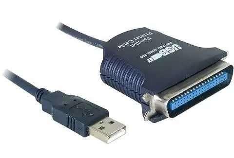 Cable USB a puerto paralelo macho conexión tipo impresora. - 1