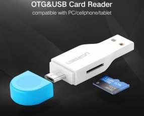 Adaptador memorias Micro SD a USB y Micro USB