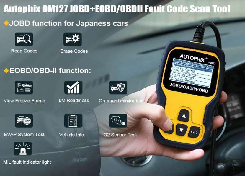 Escáner Autophix OM127 JOBD/OBDII. Lee jap. vía Chile - 1