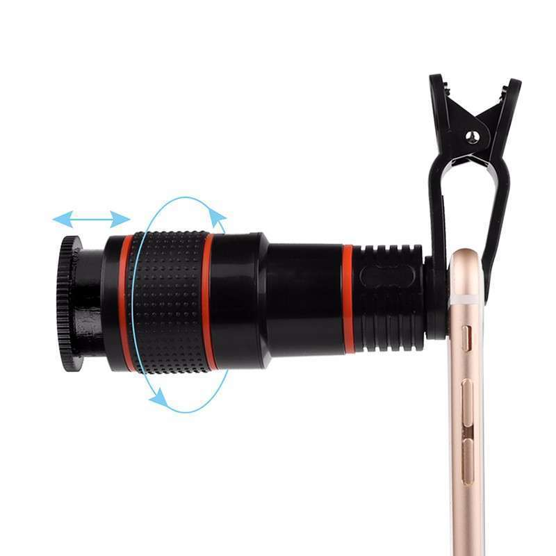 Telescopio zoom óptico 12x con clip para celulares - 5