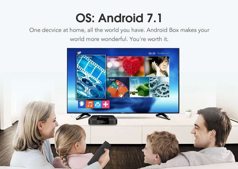 Tv box android 7.1 tx3 mini - 1