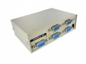 Splitter VGA 1x4 divide una señal en 4 puertos de salida VGA