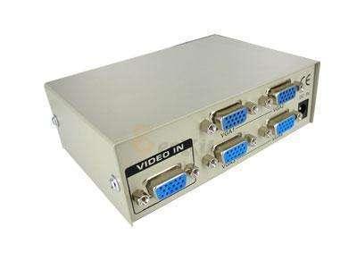 Splitter VGA 1x4 divide una señal en 4 puertos de salida VGA - 0