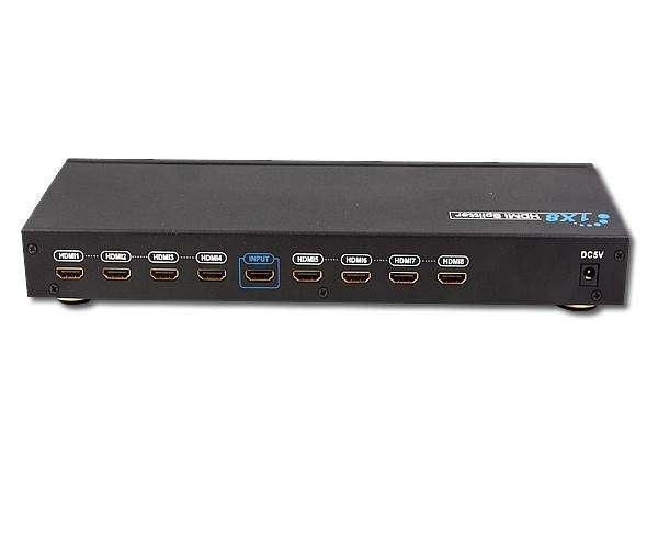 Splitter HDMI 1x8 switch una entrada 8 salidas iguales. - 0