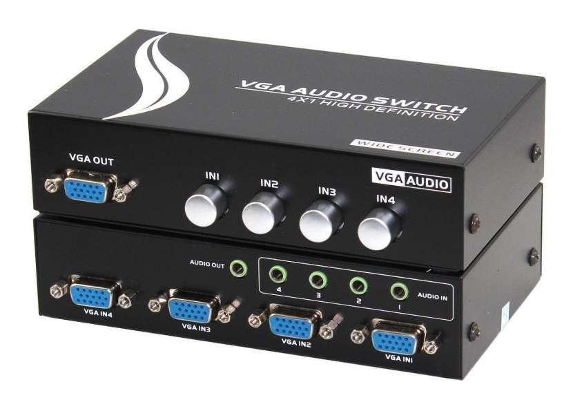 Selector de señal VGA 4 entradas 1 salida switch - 0