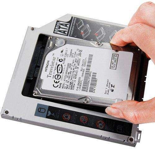"Rack gaveta interna 12.7,mm conversor DVD de notebook sata 3.5"" a HD 2.5"". - 0"