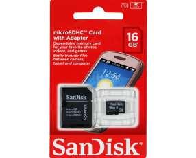 Memoria micro SD 16Gb. Sandisk hc con adaptador.