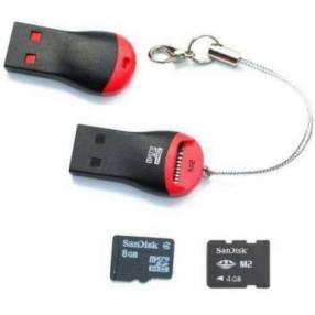 Lector USB para memoria microSD