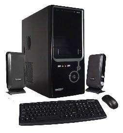 Kit gabinete BCA negro ATX/micro con teclado mouse parlante.
