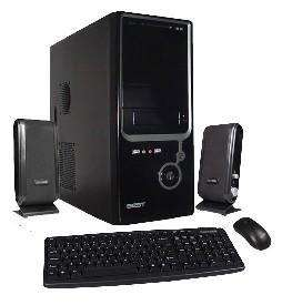 Kit gabinete BCA negro ATX/micro con teclado mouse parlante. - 0