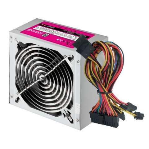 Fuente ATX 550 watts Mtek caja verde.