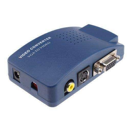 Conversor RCA A VGA para conectar en monitor - 0