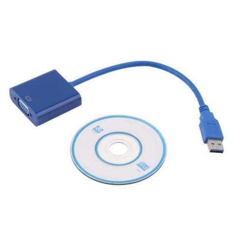 Conversor USB macho a VGA hembra USB a VGA.