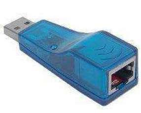 Conector USB con entrada para red lan hembra RJ45 USB a red.