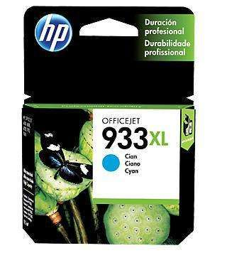 Cartucho de tinta HP 933 XL cian celeste