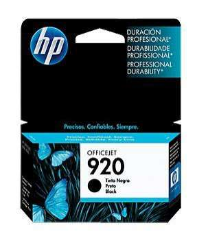 Cartucho de tinta HP 920 negro.