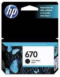 Cartucho de tinta HP 670 negro