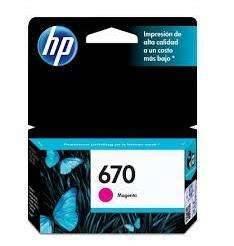 Cartucho de tinta HP 670 magenta Rosa