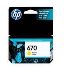 Cartucho de tinta HP 670 Amarillo