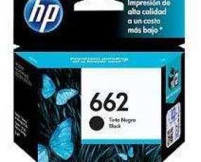Cartucho de tinta HP 662 negro.