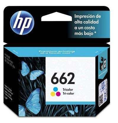 Cartucho de tinta HP 662 color.