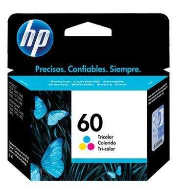 Cartucho de tinta HP 60 color.