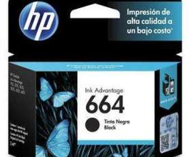 Cartucho de tinta HP 664 negro.