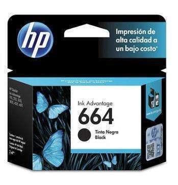 Cartucho de tinta HP 664 negro
