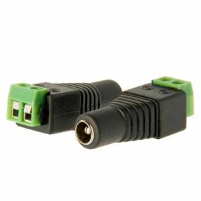 Ficha conversora power dc hembra 2.1mm a rj45 cable