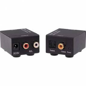 Conversor de audio óptico a rca
