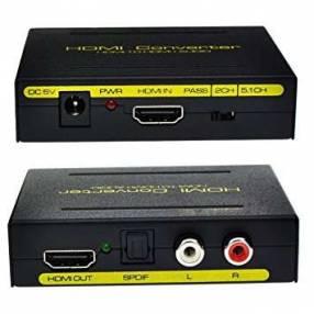 Conversor de señal a HDMI y audio divisor de imagen y sonido
