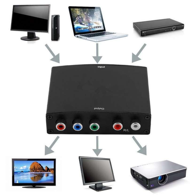 Conversor HDMI a RGB componente rojo verde azul HD - 0