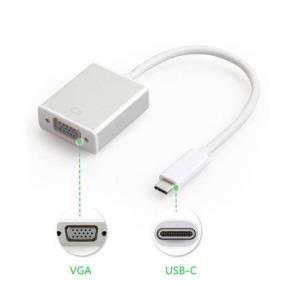Conversor USB tipo C a VGA hembra USB a VGA