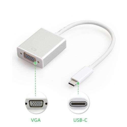 Conversor USB tipo C a VGA hembra USB a VGA - 0