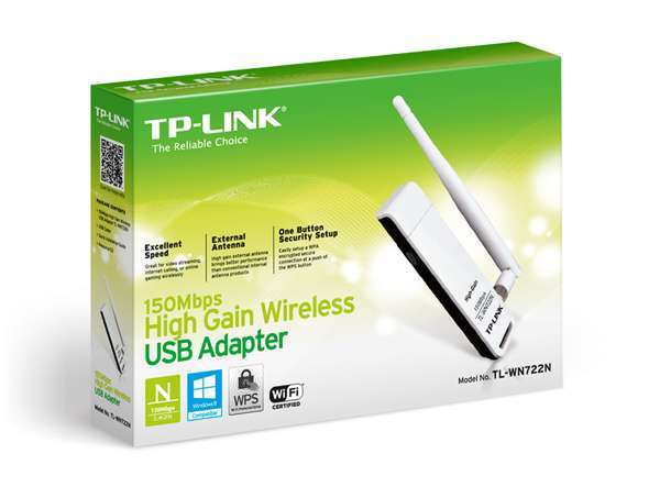 Conector USB wifi TP-Link tl-wn722n con antena 150 mbps - 0