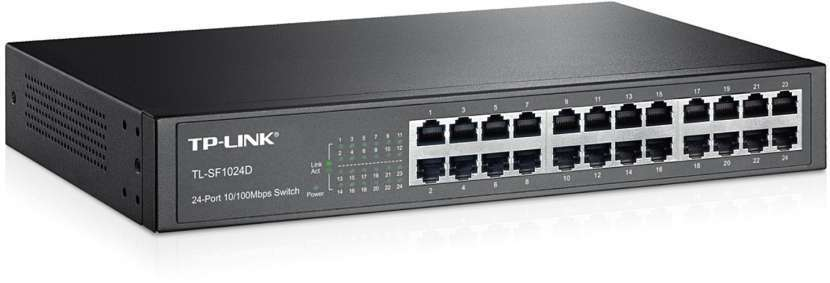 Switch 24 puertos TP-Link TL- 1024D 10/100/1000 mbps Gigabyte raqueable - 0