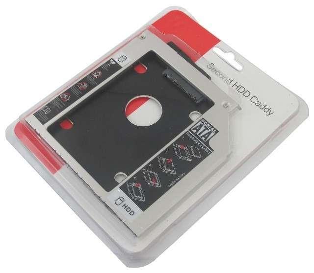 """Gaveta interna 9,5mm conversor de dvd de notebook a hd sata tipo 2.5"""" ssd. - 0"""