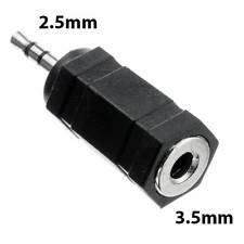 Ficha conversora de audio 2.5 mm macho a 3.5mm hembra 3 audio y micrófono.