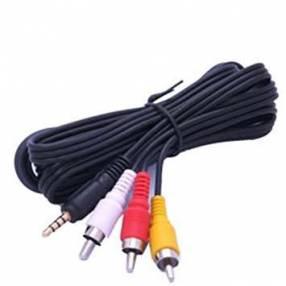 Cable audio estéreo 3.5 pulgadas a 3 RCA audio y vídeo