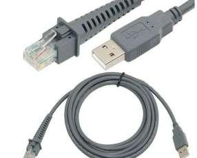Cable usb A Rj45 para lector de código de barras