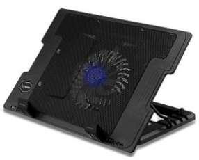 Cooler base para notebook con 5 niveles luz azul Quanta QTCLP1001I.