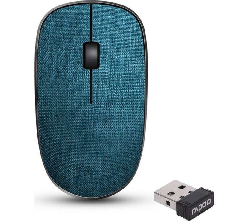 Mouse USB wireless Rapoo 3510 plus cubierta de tela azul - 0