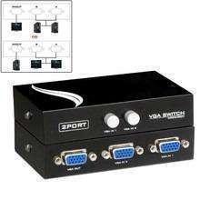 Selector de señal VGA 2x1 switch 2 entradas 1 salida kvm. - 0