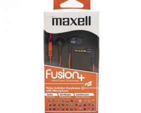 Auricular Maxell fusion FUS-9 naranja/amarillo