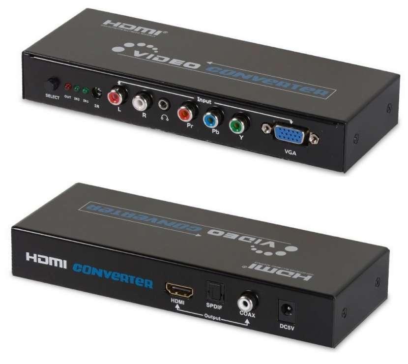 Conversor activo vídeo componente y VGA a HDMI - 0