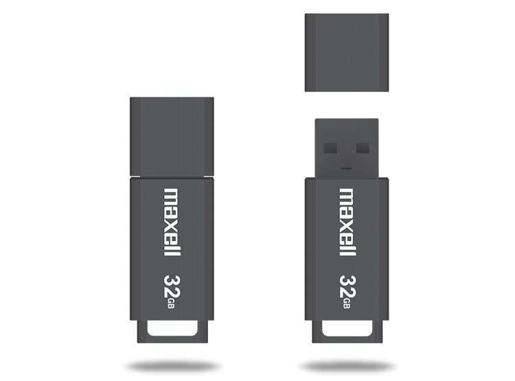 Pendrive 32 GB Maxell negro eco data modelo usbpd-32. - 0
