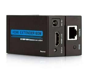 Extensor HDMI 60 metros cable utp cat 6 microfins 3d