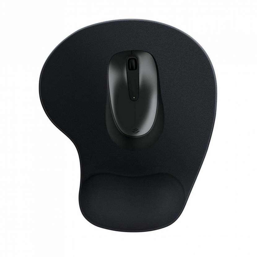 Mouse pad con apoya manos de tela, AZUL MARINO - - 0